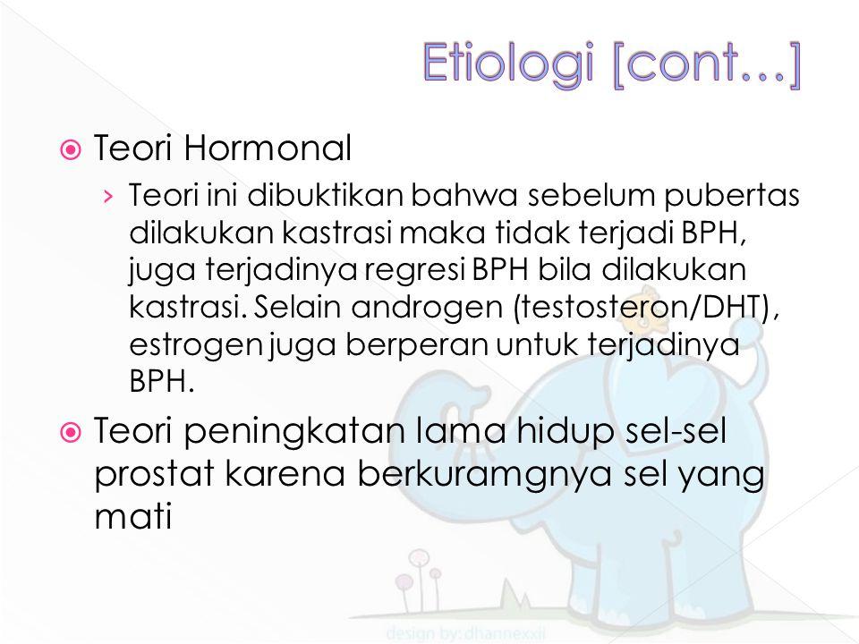 Etiologi [cont…] Teori Hormonal
